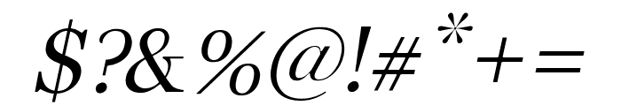Buitenzorg Italic Font OTHER CHARS