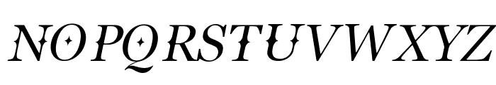 Buitenzorg Italic Font UPPERCASE