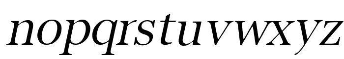 Buitenzorg Italic Font LOWERCASE