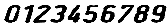 BullseyeITALIC Font OTHER CHARS