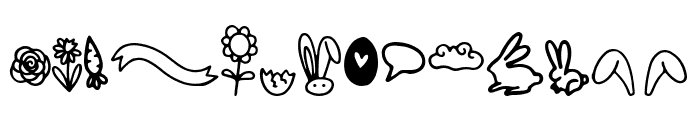 Bunny Tail Doodle Font UPPERCASE