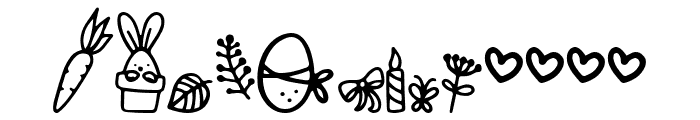 Bunny Tail Doodle Font LOWERCASE