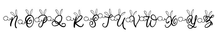 Bunny Tail Font UPPERCASE