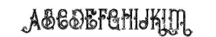 Bureno Bold Regular Grunge Font UPPERCASE