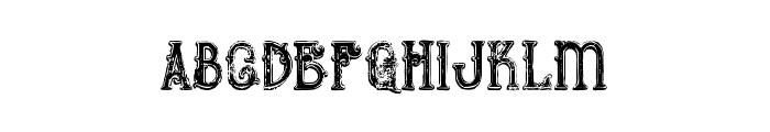 Bureno Bold Regular Grunge Font LOWERCASE