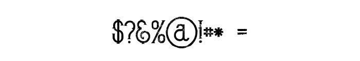 Bureno Regular Grunge Font OTHER CHARS