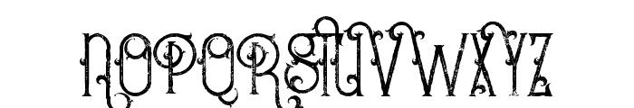 Bureno Regular Grunge Font UPPERCASE