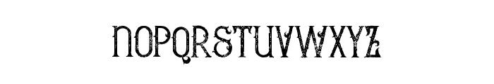 Bureno Regular Grunge Font LOWERCASE
