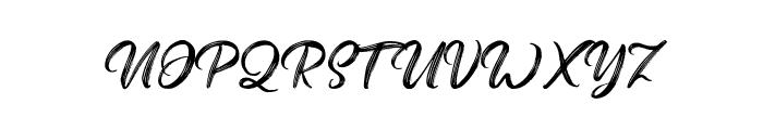Butterscotch Font UPPERCASE