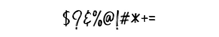 ButterscotchAllCap Font OTHER CHARS