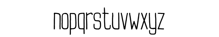 Buxton Font LOWERCASE
