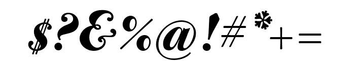 CALBodoniCasale-BlackItalic Font OTHER CHARS