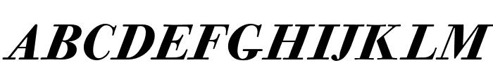 CALBodoniCasale-BlackItalic Font UPPERCASE