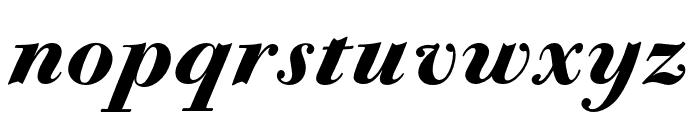 CALBodoniCasale-BlackItalic Font LOWERCASE