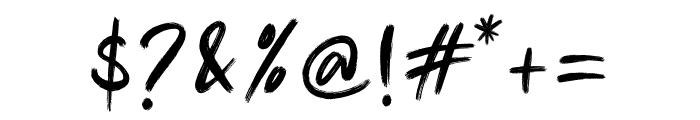 CHAMBRUSH Font OTHER CHARS