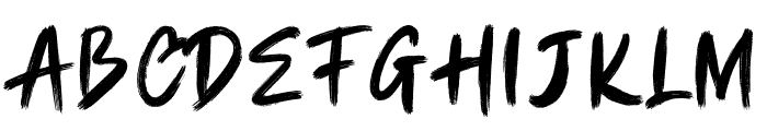 CHAMBRUSH Font UPPERCASE