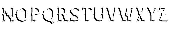 CHESTER Drop Shade Font LOWERCASE
