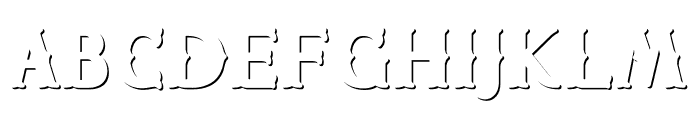 CHESTER Shadow outline Font LOWERCASE