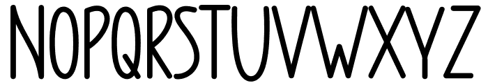 CHUBBY RUBBY Font UPPERCASE