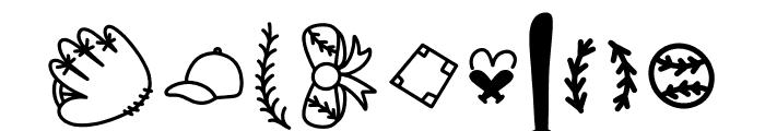 CLN-BaseballMomma2 Regular Font OTHER CHARS