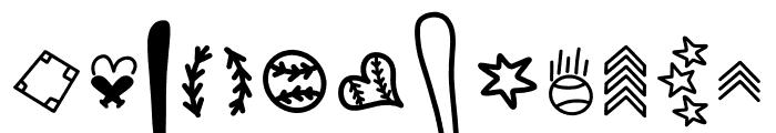 CLN-BaseballMomma2 Regular Font UPPERCASE