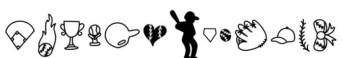 CLN-BaseballMomma2 Regular Font LOWERCASE
