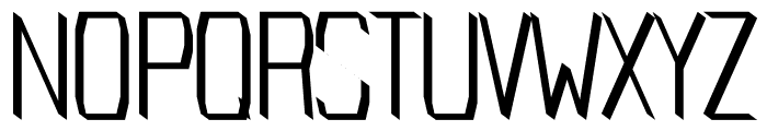 Cabin regular Font UPPERCASE