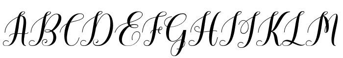 CaldwellScript-BoldItalic Font UPPERCASE