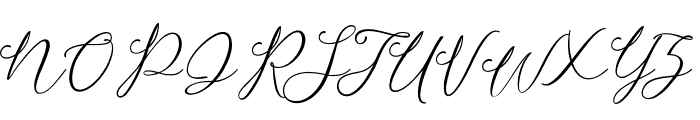 Camomile Regular Font UPPERCASE