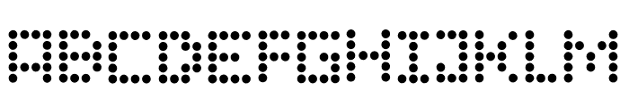Campaign Dots Font UPPERCASE