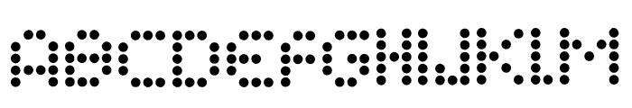 Campaign Dots Font LOWERCASE