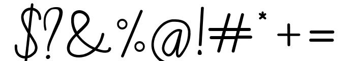 Candela Script Font OTHER CHARS