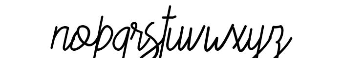 Candela Script Font LOWERCASE