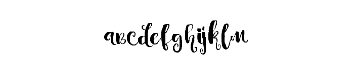 Candyland-Regular Font LOWERCASE