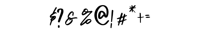 Carbonara Font OTHER CHARS