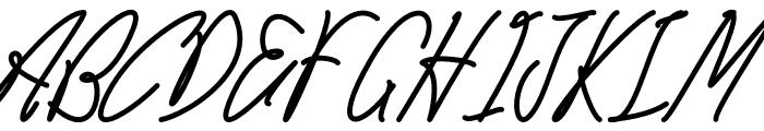 Careza Riz Monoline Font UPPERCASE