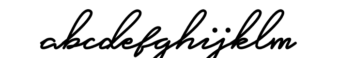 Careza Riz Monoline Font LOWERCASE