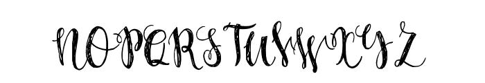 Caricia-Regular Font UPPERCASE