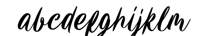 Carily Font LOWERCASE