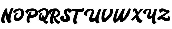 Carlanta Bold Script Font UPPERCASE