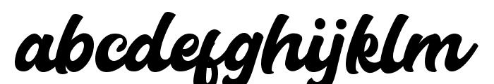 Carlanta Bold Script Font LOWERCASE