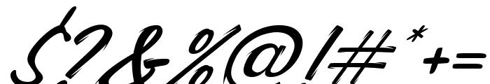 Carlottey Tilted Font OTHER CHARS