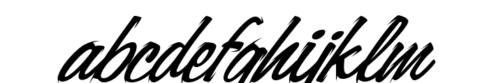Carlottey Tilted Font LOWERCASE
