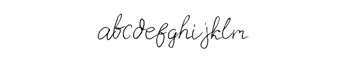 Carnation Regular Font LOWERCASE