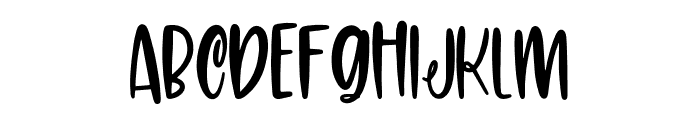 Carolina Font Regular Font UPPERCASE