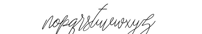 Carolina Font LOWERCASE