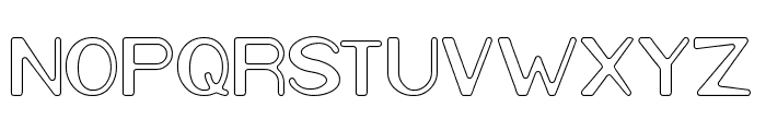 Cartoon Character-Hollow Font UPPERCASE