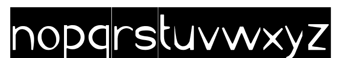 Cartoon Character-Inverse Font LOWERCASE