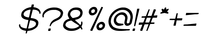 Cartoon Character Italic Font OTHER CHARS