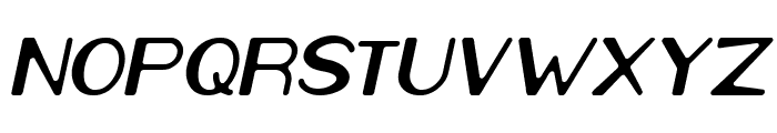 Cartoon Character Italic Font UPPERCASE